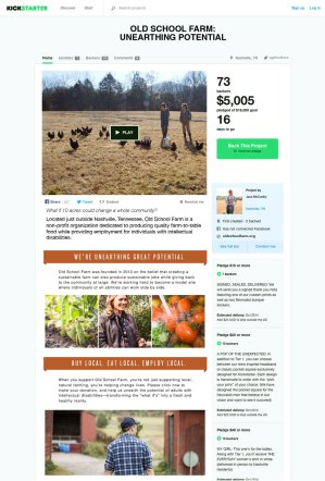 Old School Farm Kickstarter campaign